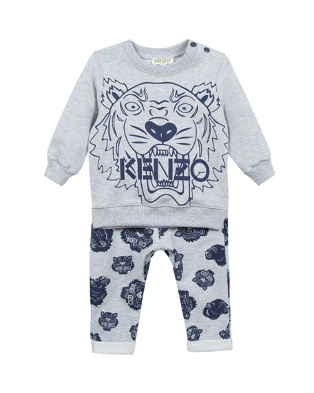 Kenzo Tiger Icon Sweatshirt w/ Matching Pants, Size