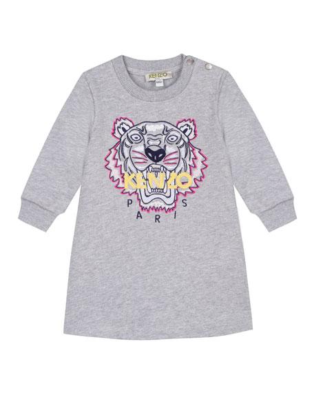 Kenzo Tiger Icon Fleece Long-Sleeve Dress, Size 2-4