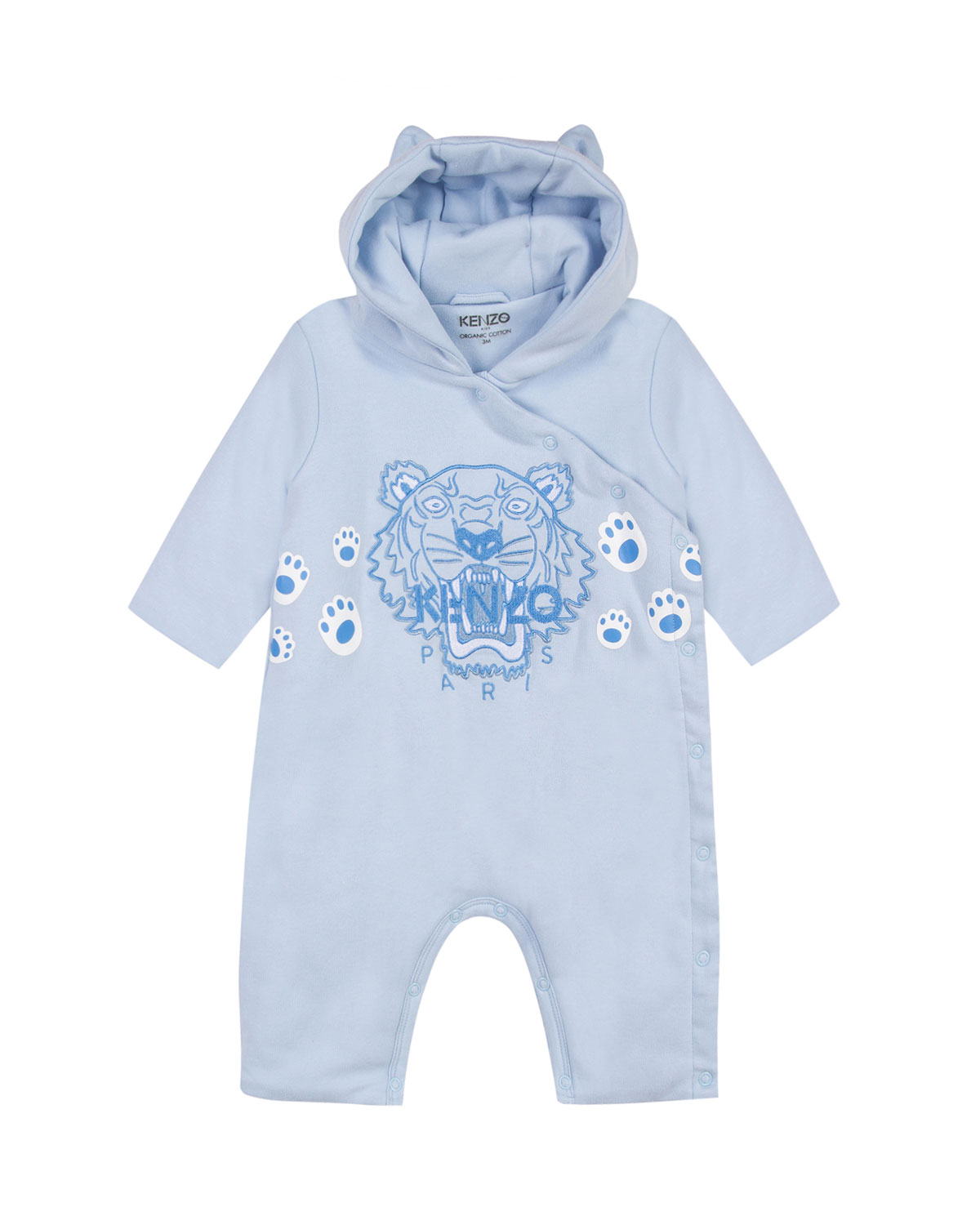 e4c2d529 Hooded Fleece Coverall w/ Tiger Icon Embroidery, Size 6-18 Months