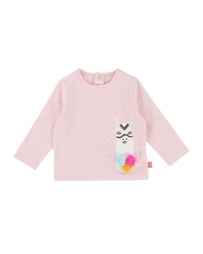 Long-Sleeve Llama T-Shirt, Size 12-18 Months