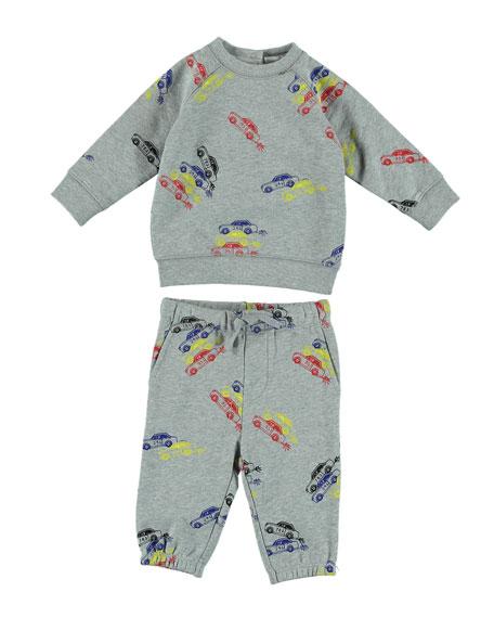 Stella McCartney Kids Cars-Print Sweatshirt w/ Matching Pants,