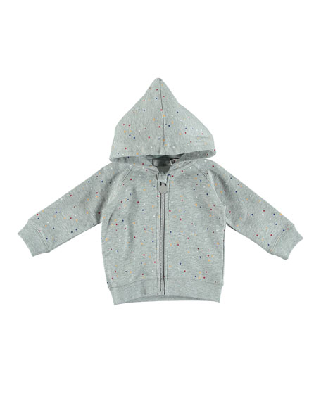 Paint Splatter Zip-Up Hooded Jacket, Size 6-36 Months