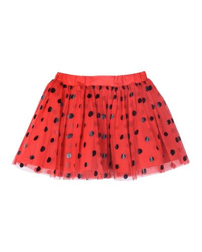 Polka-Dot Tulle Skirt, Size 4-10