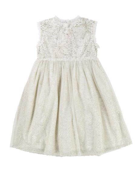 Sequin & Tulle Sleeveless Dress, Size 2-8