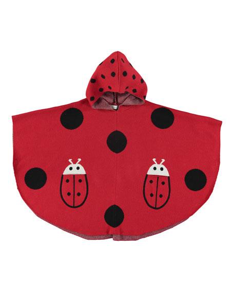Stella McCartney Ladybug Hooded Poncho, Size 4-10