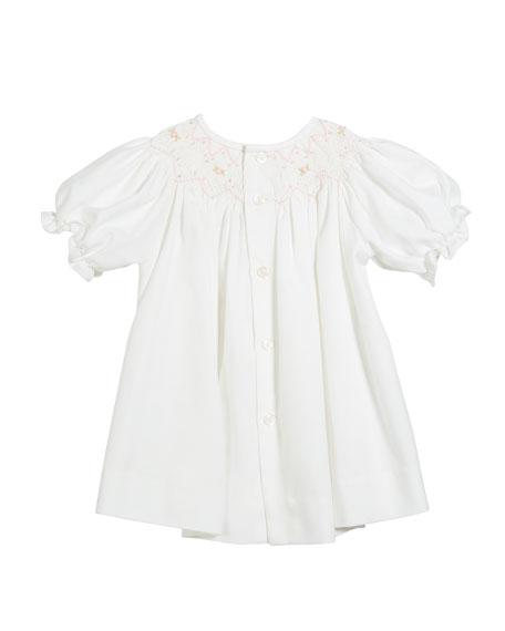Three-Piece Button-Down Floral Bishop Dress, Size 3-12 Months