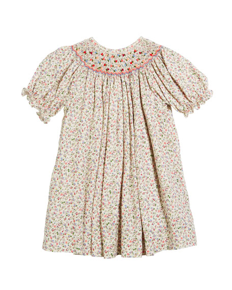 Floral Button-Down Bishop Dress, Size 6-24 Months