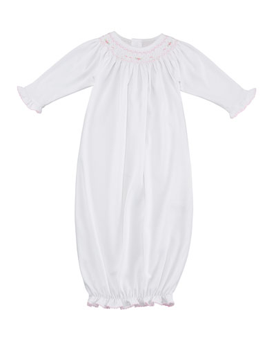 CLB Fall Bishop Smocked Convertible Gown, Size Newborn-S