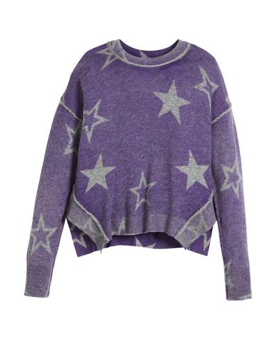 Stellar Inked Boxy Crewneck Sweater, Size 6-16