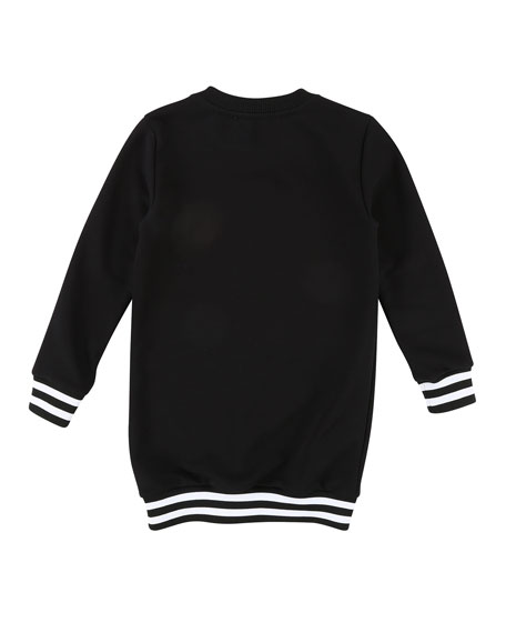 Long-Sleeve Logo Sweatshirt Dress, Size 6-10