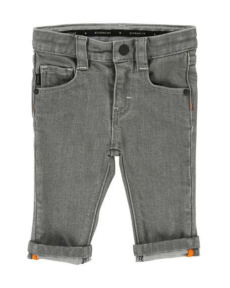 Straight-Leg Denim Pants, Size 12-18 Months