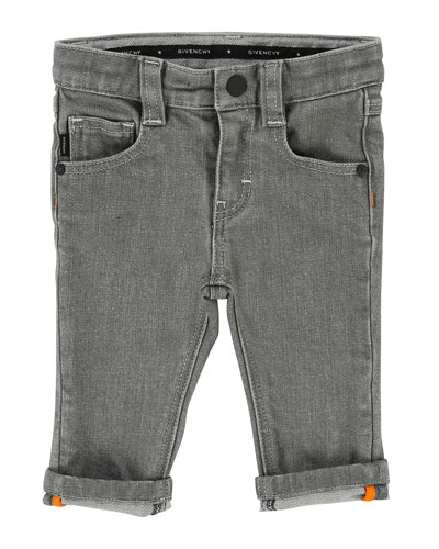 Straight-Leg Denim Pants, Size 2-3
