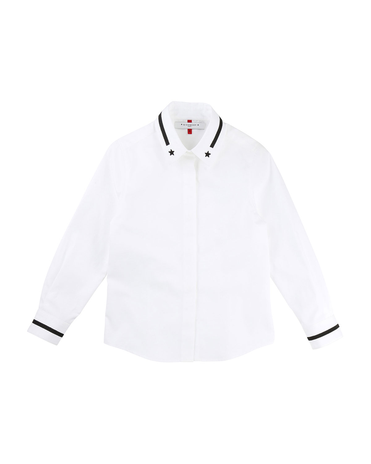 Sleeve Shirt Down Long Button W Contrast Stripes Givenchy Starsamp; 8PX0wnOk