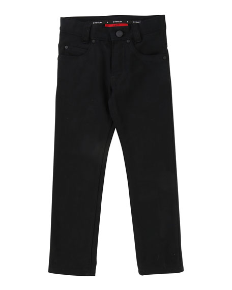 Givenchy Denim Pants w/ Back Leatherette Pocket, Size