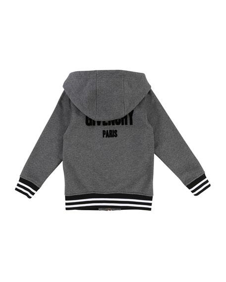 Hooded Zip-Up Jacket w/ Logo Back, Size 6-10