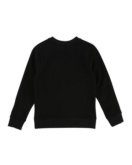 Brushed Pique Sweatshirt w/ Rubber Ink Logo, Size 12-14