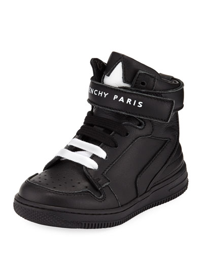 Leather High-Top Grip-Strap Sneakers  Toddler