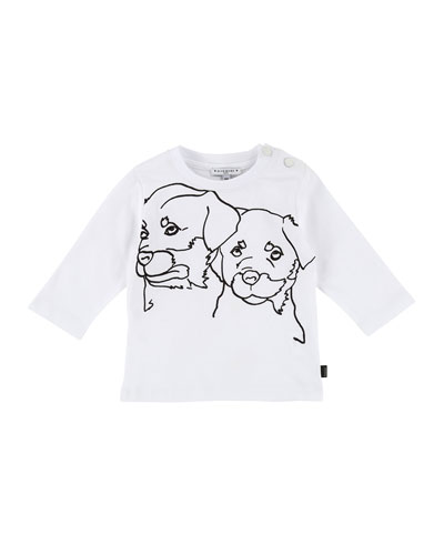Long-Sleeve Rottweiler Drawing Tee, Size 2-3