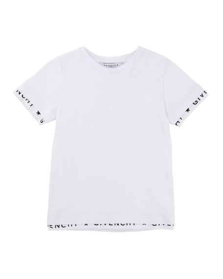 Short-Sleeve Tee w/ Logo Banded Detail, Size 4-5