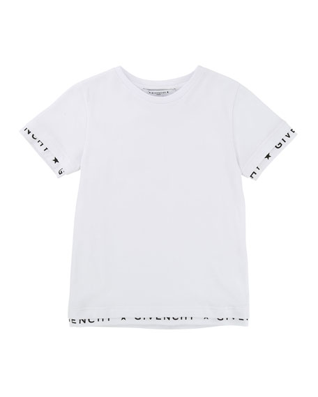 Short-Sleeve Tee w/ Logo Banded Detail, Size 12-14