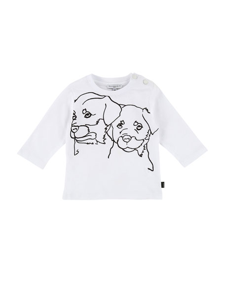 Long-Sleeve Rottweiler Drawing Tee, Size 12-18 Months