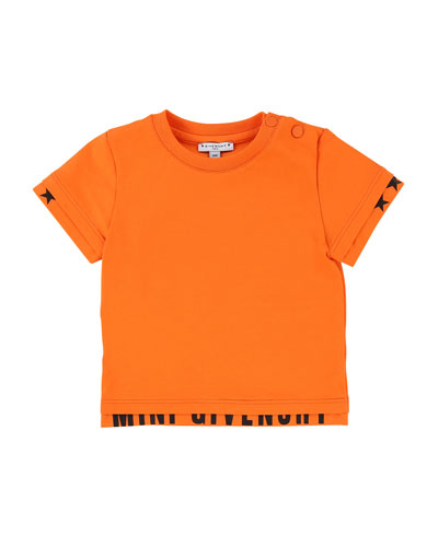 Short-Sleeve Tee w/ Logo Banded Detail, Size 2-3