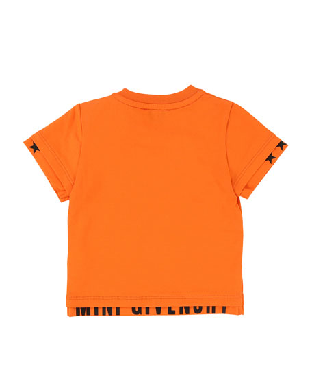 Short-Sleeve Tee w/ Logo Banded Detail, Size 12-18 Months