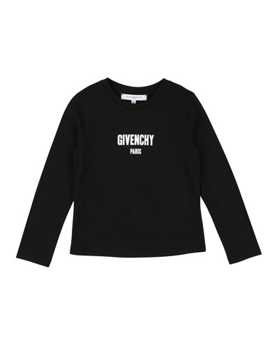 Long-Sleeve Logo Tee, Size 6-10