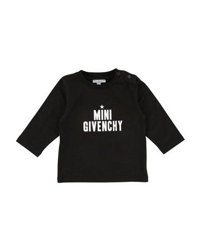 Mini Givenchy Long-Sleeve Tee, Size 12-18 Months