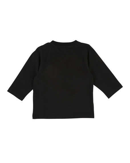 Mini Givenchy Long-Sleeve Tee, Size 2-3