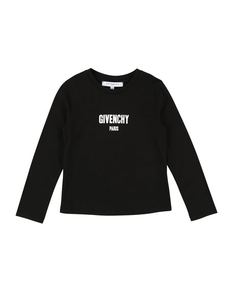 Long-Sleeve Logo Tee, Size 12-14