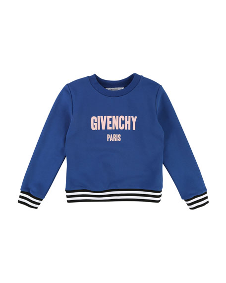 Logo Sweatshirt w/ Striped Details, Size 4-5