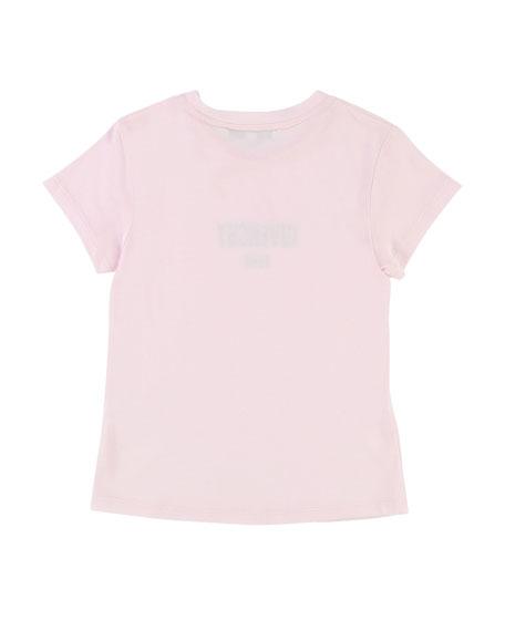 Short-Sleeve Shiny Logo Tee, Size 12-14