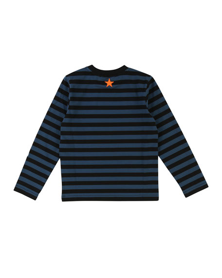 Striped I Only Speak Givenchy Long-Sleeve Tee, Size 4-5