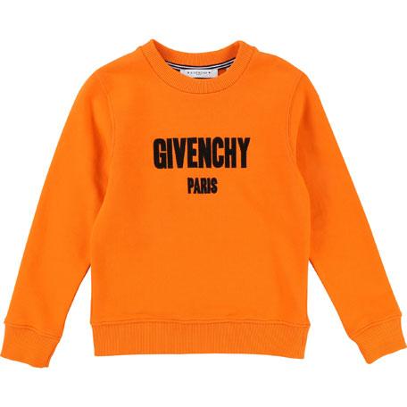 Logo Pullover Sweatshirt, Size 4-5