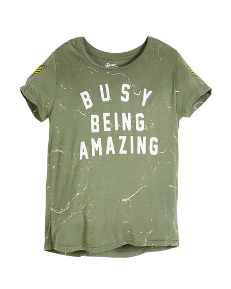 Flowers by Zoe Busy Being Amazing Paint-Splatter Tee,