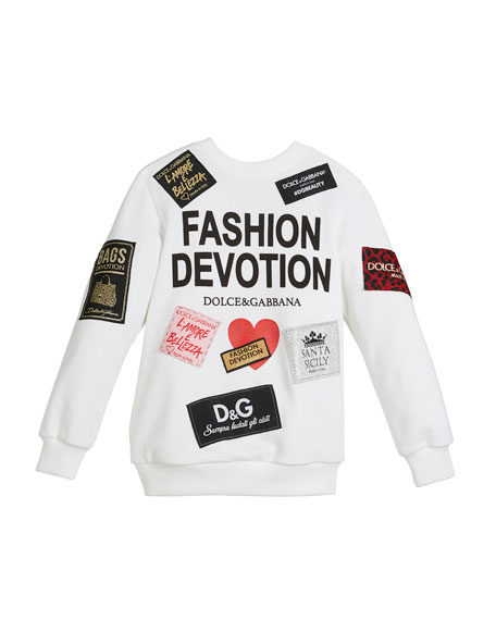 Dolce & Gabbana Fashion Devotion Sweatshirt w/ Patches,