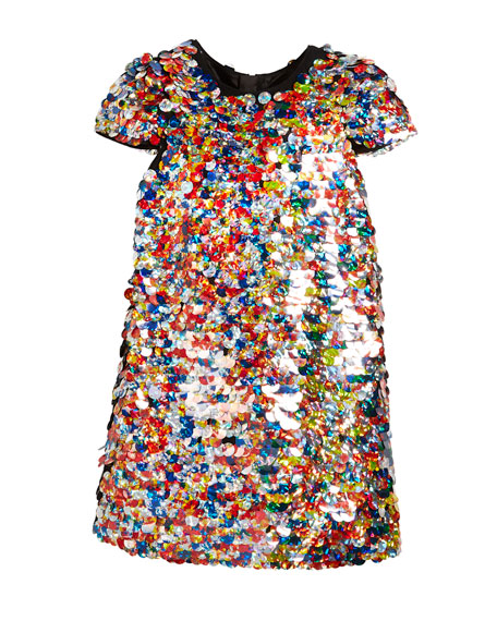 Chloe Multicolor Sequin Dress, Size 4-7