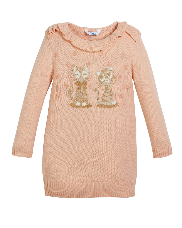 e5b8358e891d Mayoral Knit Sweater Dress w  Kitty Intarsia