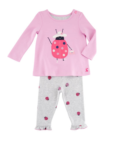 Two-Piece Ladybug Outfit Set, Size 6-24 Months