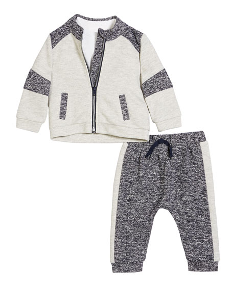 Contrasting 3-Piece Layette Outfit Set, Size 3-24 Months
