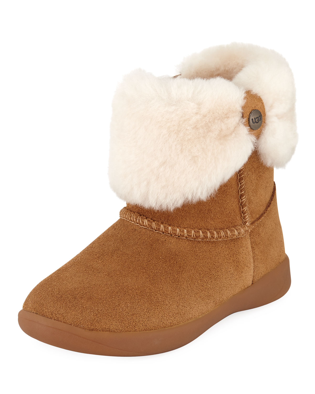 ec8f4c9c1ad Ramona Suede Boots w/ Shearling Cuff, Youth