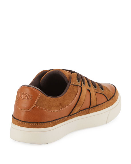 Marcus Faux-Leather & Suede Sneakers, Kids