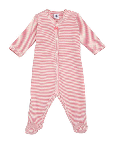 Trenta Striped Footie Playsuit, Baby Girl Size 1-9 Months