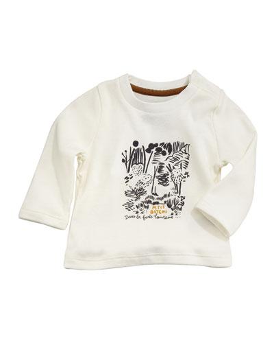 Tarama Long-Sleeve Owl Tee, Baby Boy Size 3-36 Months