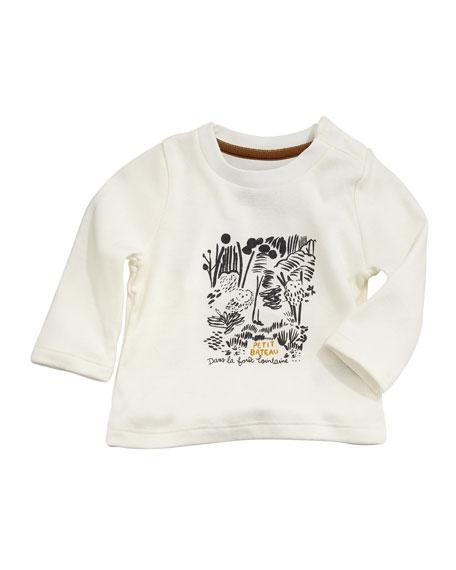 Petit Bateau Tarama Long-Sleeve Owl Tee, Baby Boy