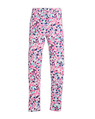Ditsy Floral-Print Leggings, Size 2-10