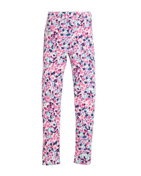 Ditsy Floral-Print Leggings, Size 2-10
