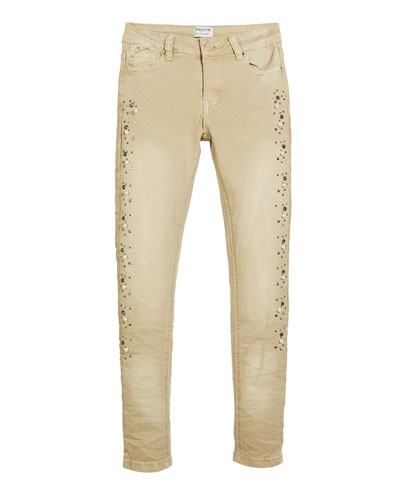 Pearly Studded Jeans  Size 8-16