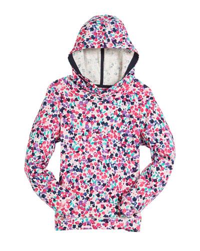 Ditsy Floral-Print Hoodie, Size 3-10